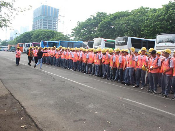 Siswa SMK Tanjung Priok 1 mengikuti kegiatan